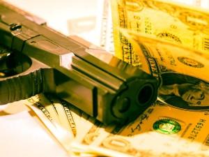 Fusil et argent