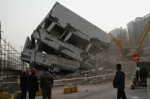 Edifice en demolition