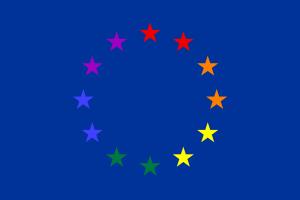 Drapeau de l_Europe LGBTQ